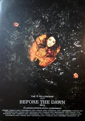 Kate Bush Before the Dawn Tour poster UK BUSPOBE645794