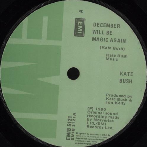 "Kate Bush December Will Be Magic Again 7"" vinyl single (7 inch record) Irish BUS07DE681948"