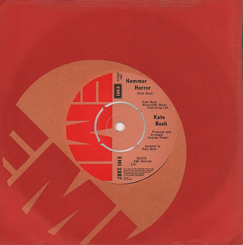 "Kate Bush Hammer Horror 7"" vinyl single (7 inch record) UK BUS07HA616746"