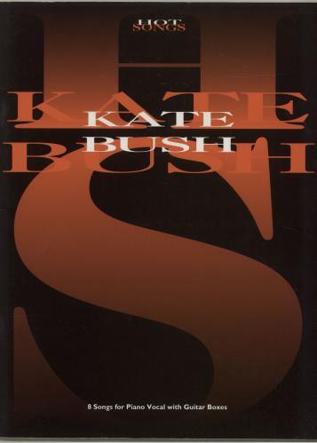 Kate Bush Hot Songs Uk Sheet Music 686770 Isbn1 85909 011 7