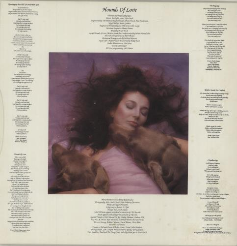 Kate Bush Hounds Of Love + Insert - EX vinyl LP album (LP record) UK BUSLPHO45545