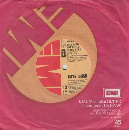 "Kate Bush Man With The Child In His Eyes 7"" vinyl single (7 inch record) Australian BUS07MA324604"