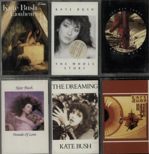 Kate Bush Quantity of Seven Cassette Albums UK cassette album (612300)