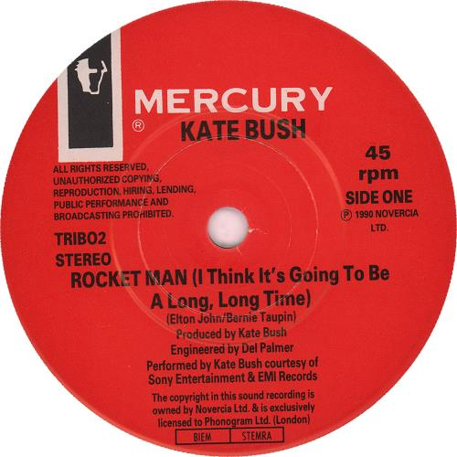 "Kate Bush Rocket Man 7"" vinyl single (7 inch record) UK BUS07RO661635"