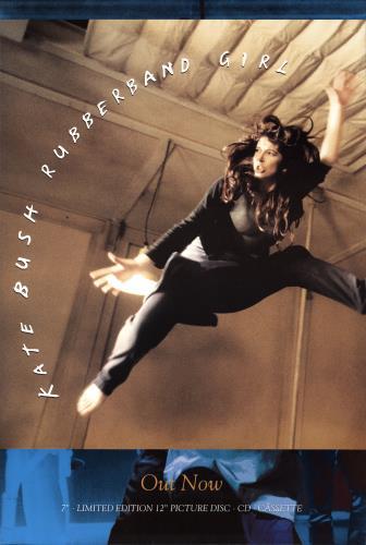 Kate Bush Rubberband Girl poster UK BUSPORU25704