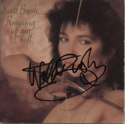 """Kate Bush Running Up That Hill - G/F - Autographed 7"""" vinyl single (7 inch record) UK BUS07RU756617"""