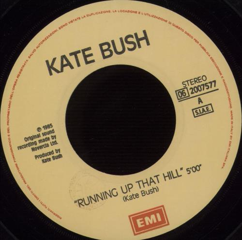 "Kate Bush Running Up That Hill 7"" vinyl single (7 inch record) Italian BUS07RU667182"