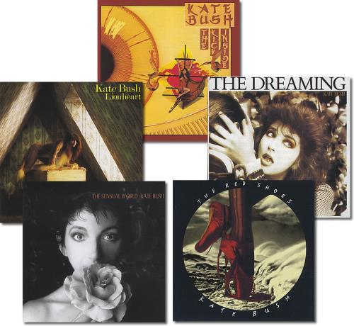 Kate Bush Set Of 5 CD Albums Dutch CD album (CDLP) (388517)