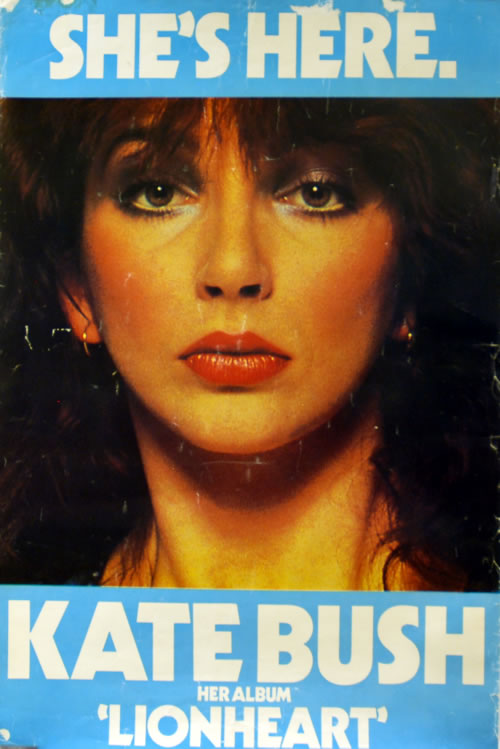 Kate Bush She's Here...Lionheart poster UK BUSPOSH618896