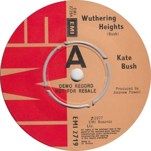 "Kate Bush Wuthering Heights - Demo - P/S - EX 7"" vinyl single (7 inch record) UK BUS07WU688046"