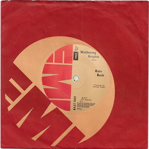 """Kate Bush Wuthering Heights - Solid 7"""" vinyl single (7 inch record) UK BUS07WU575623"""