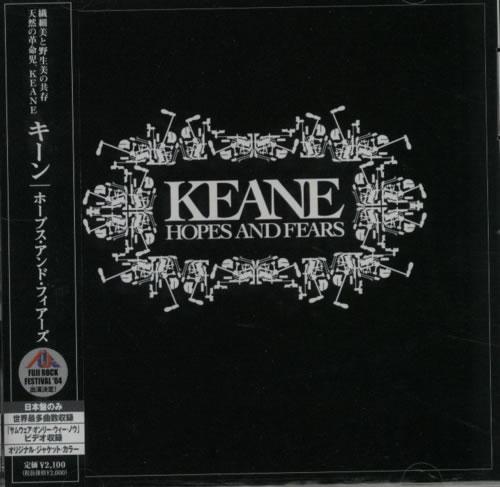 Keane (00s) Hopes And Fears CD album (CDLP) Japanese KANCDHO348907