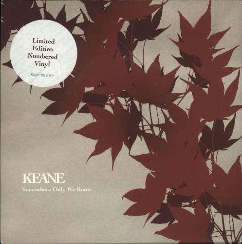 """Keane (00s) Somewhere Only We Know - Numbered 7"""" vinyl single (7 inch record) UK KAN07SO270767"""