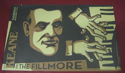 Keane (00s) The Fillmore poster UK KANPOTH367047