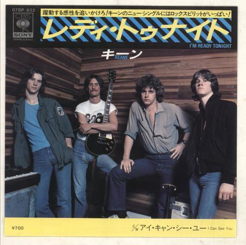 """Keane (70s) I'm Ready Tonight - Promo + Insert 7"""" vinyl single (7 inch record) Japanese K8B07IM740010"""