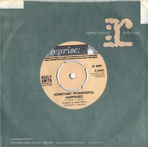 """Keely Smith Something Wonderful Happened - 4 Prong 7"""" vinyl single (7 inch record) UK KE407SO604171"""