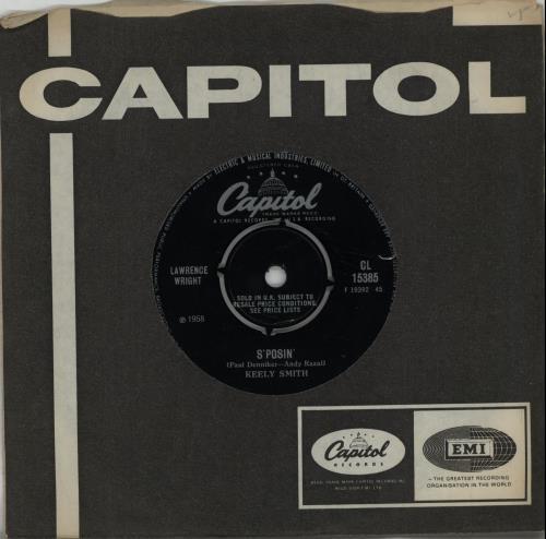 "Keely Smith S'posin' 7"" vinyl single (7 inch record) UK KE407SP654232"