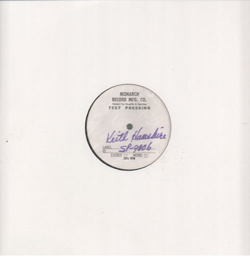 Keith Hampshire The First Cut - Test Pressing vinyl LP album (LP record) US KHPLPTH635043