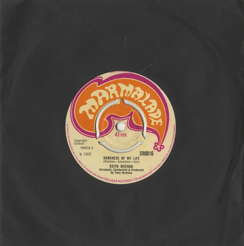 "Keith Meehan Darkness Of My Life - VG+/EX- 7"" vinyl single (7 inch record) UK KKK07DA569388"