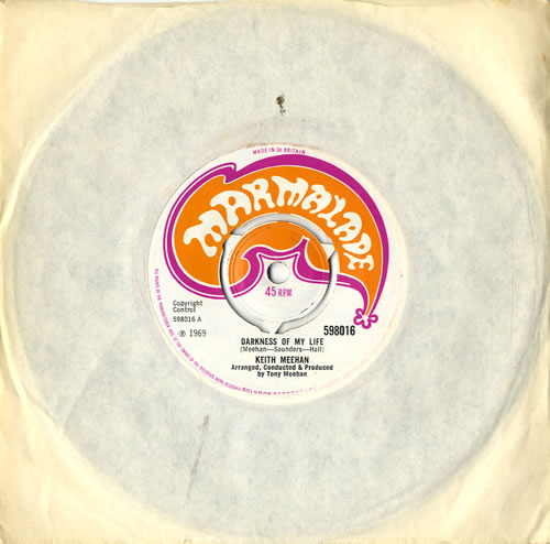 "Keith Meehan Darkness Of My Life 7"" vinyl single (7 inch record) UK KKK07DA575867"