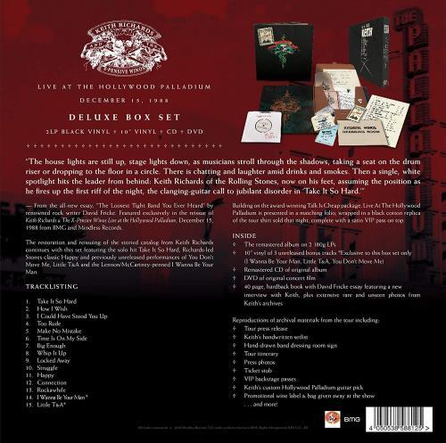 Keith Richards Live at the Hollywood Palladium - Super Deluxe Box Set - Sealed Vinyl Box Set UK KRIVXLI756474
