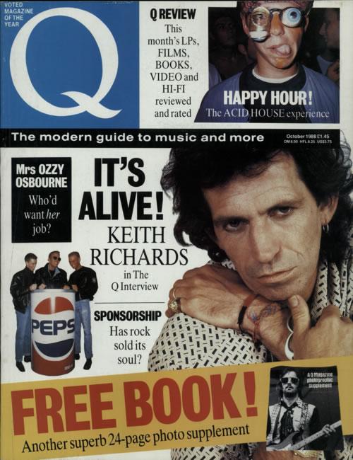 Keith Richards Q Magazine magazine UK KRIMAQM380205