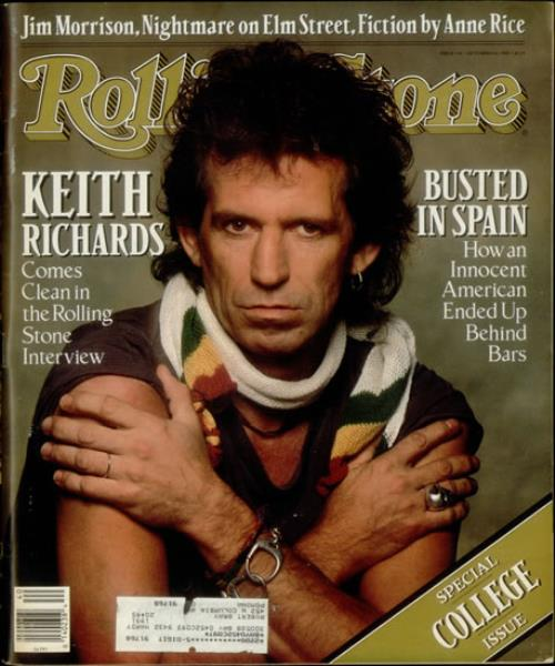 Keith Richards Rolling Stone US magazine (543644) OCT 6TH 1988