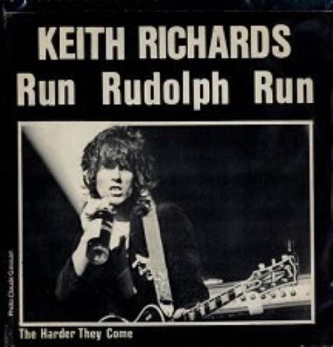 "Keith Richards Run Rudolph Run 7"" vinyl single (7 inch record) Belgian KRI07RU114854"