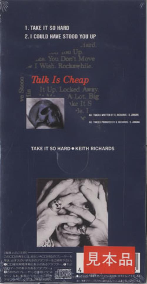 "Keith Richards Take It So Hard 3"" CD single (CD3) Japanese KRIC3TA134348"