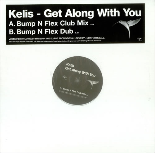 "Kelis Get Along With You 12"" vinyl single (12 inch record / Maxi-single) UK K-S12GE444120"