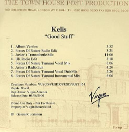 Kelis Good Stuff CD-R acetate UK K-SCRGO168437