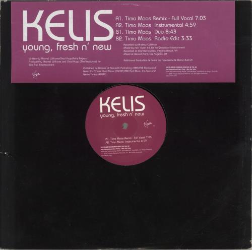 "Kelis Young, Fresh N' New 12"" vinyl single (12 inch record / Maxi-single) UK K-S12YO233657"