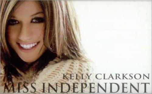 Kelly Clarkson Miss Independent cassette single European KCRCSMI521399