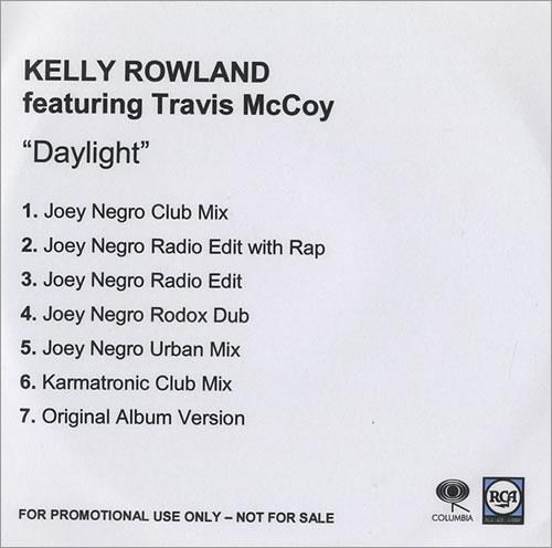 Kelly Rowland Daylight CD-R acetate UK KLWCRDA446295