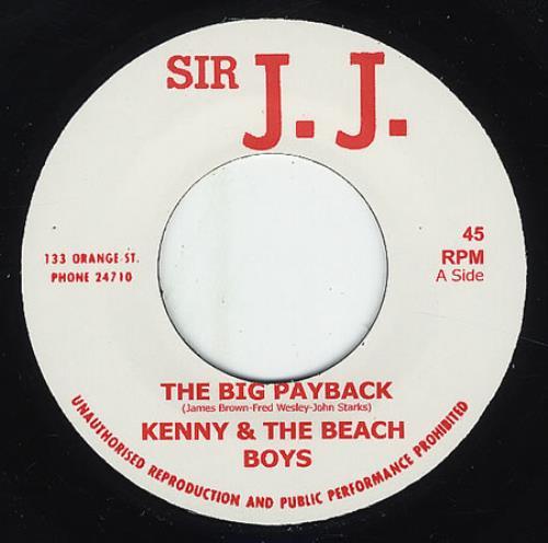 "Kenny & The Beach Boys The Big Payback 7"" vinyl single (7 inch record) UK KBO07TH369045"