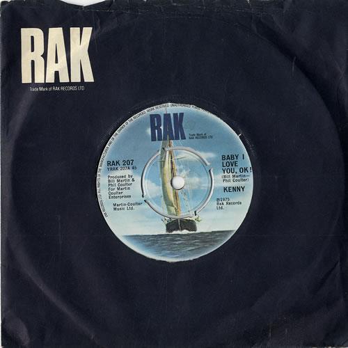 "Kenny Baby I Love You, OK 7"" vinyl single (7 inch record) UK K-Y07BA554336"