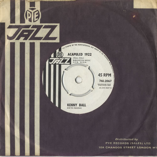 "Kenny Ball Acapulco 1922 7"" vinyl single (7 inch record) UK KB-07AC473565"