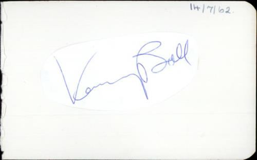 Kenny Ball Autograph From 1962 memorabilia UK KB-MMAU507580