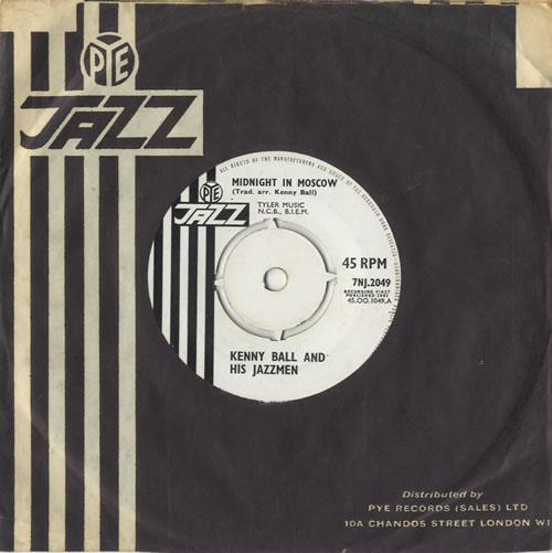 "Kenny Ball Midnight In Moscow - 4pr 7"" vinyl single (7 inch record) UK KB-07MI408631"