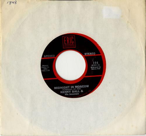 "Kenny Ball Midnight In Moscow 7"" vinyl single (7 inch record) US KB-07MI600665"