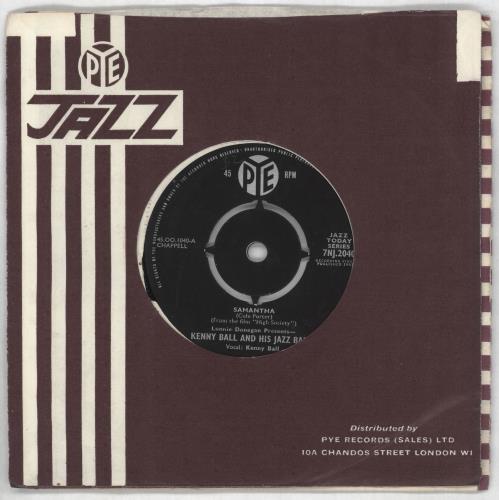 """Kenny Ball Samantha 7"""" vinyl single (7 inch record) UK KB-07SA563260"""