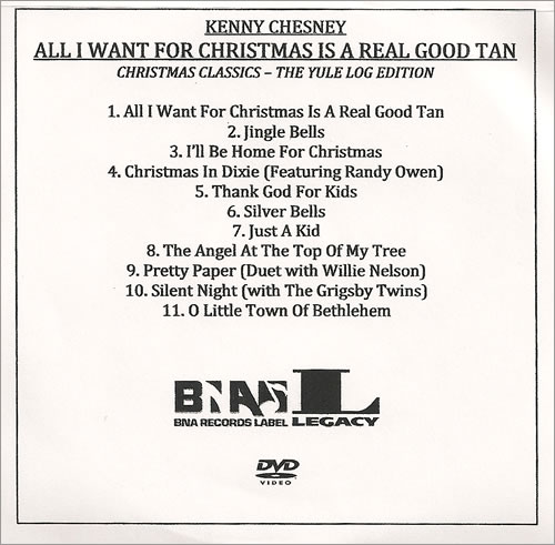kenny chesney all i want for christmas is a real good tan promo dvd r