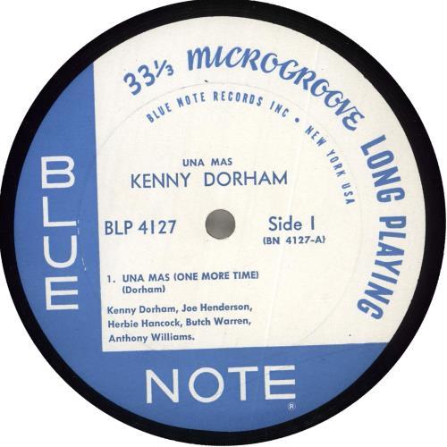 Kenny Dorham Una Mas (One More Time) - 1st - NY vinyl LP album (LP record) US KDALPUN719322