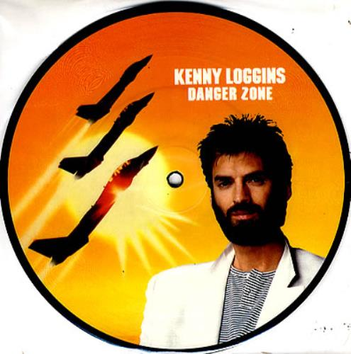 """Kenny Loggins Danger Zone 7"""" vinyl picture disc 7 inch picture disc single UK KLO7PDA350088"""