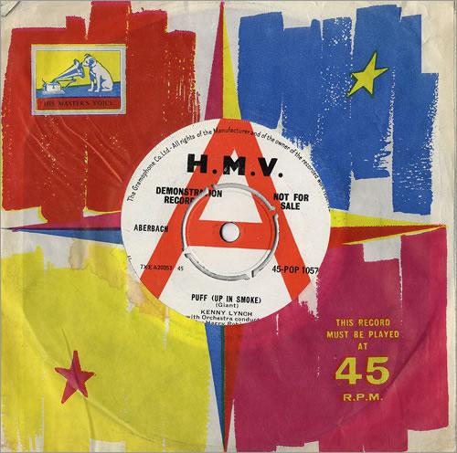 "Kenny Lynch Puff (Up In Smoke) 7"" vinyl single (7 inch record) UK KEX07PU481064"