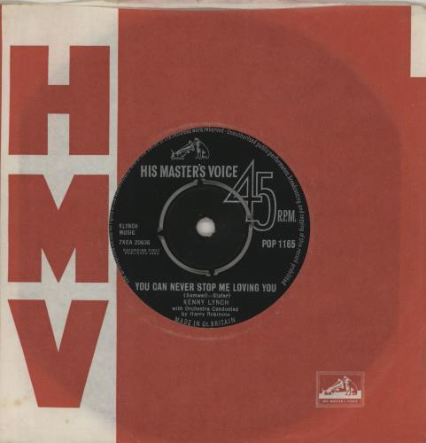 "Kenny Lynch You Can Never Stop Me Loving You 7"" vinyl single (7 inch record) UK KEX07YO504388"