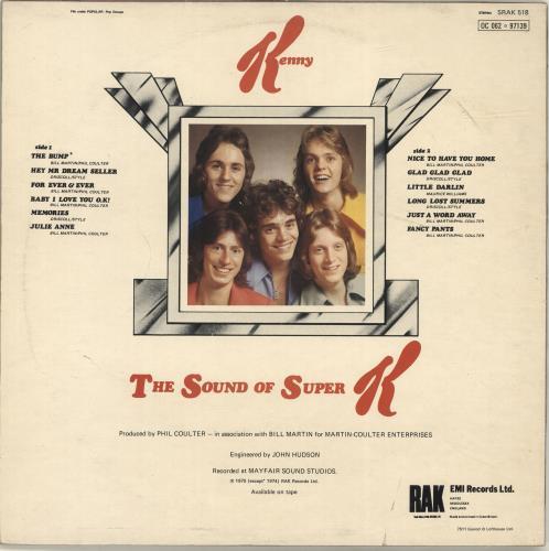 Kenny The Sound Of Super K vinyl LP album (LP record) UK K-YLPTH695660