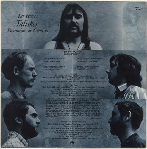 Ken Hyder's Talisker Dreaming Of Glenisla vinyl LP album (LP record) UK QGNLPDR691561