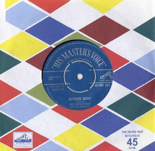 """Ken Mackintosh Ulterior Motif 7"""" vinyl single (7 inch record) UK KM807UL558294"""