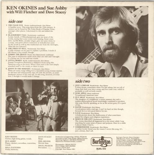 Ken Okines And Sue Ashby Close Relations vinyl LP album (LP record) UK QG8LPCL692588